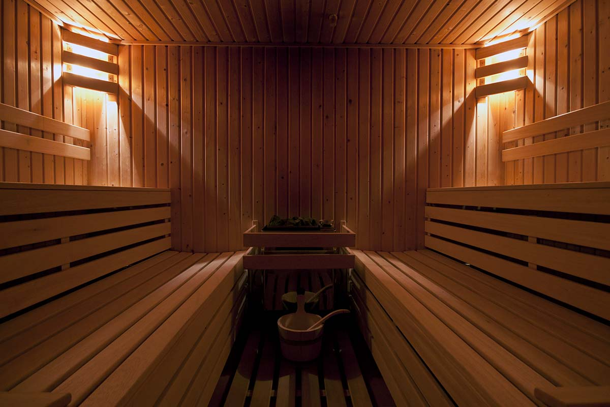 Our hotel has a private sauna