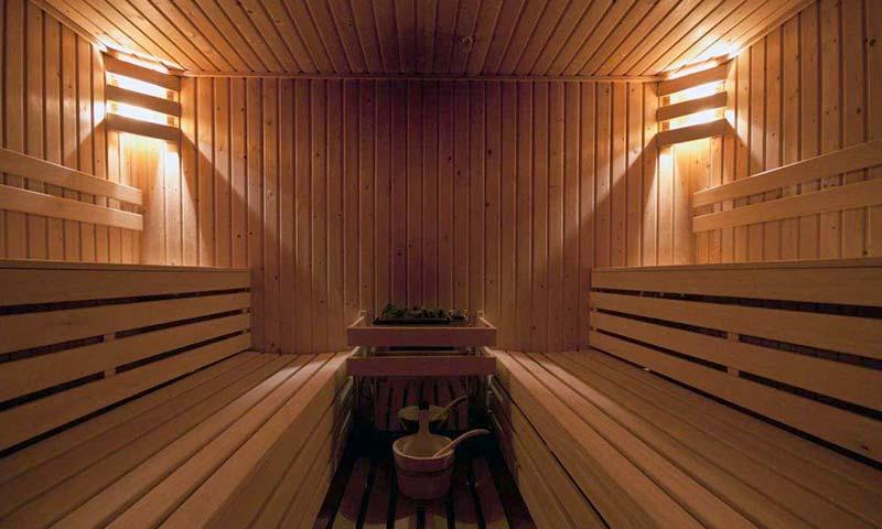 Sauna in het hotel op Diek
